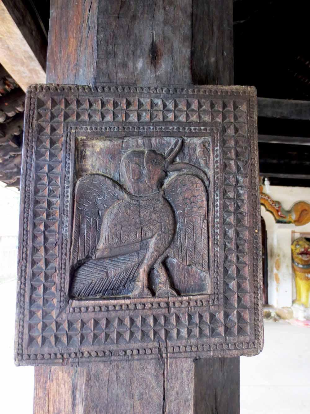 Embakke Devalaya wooden carvings12