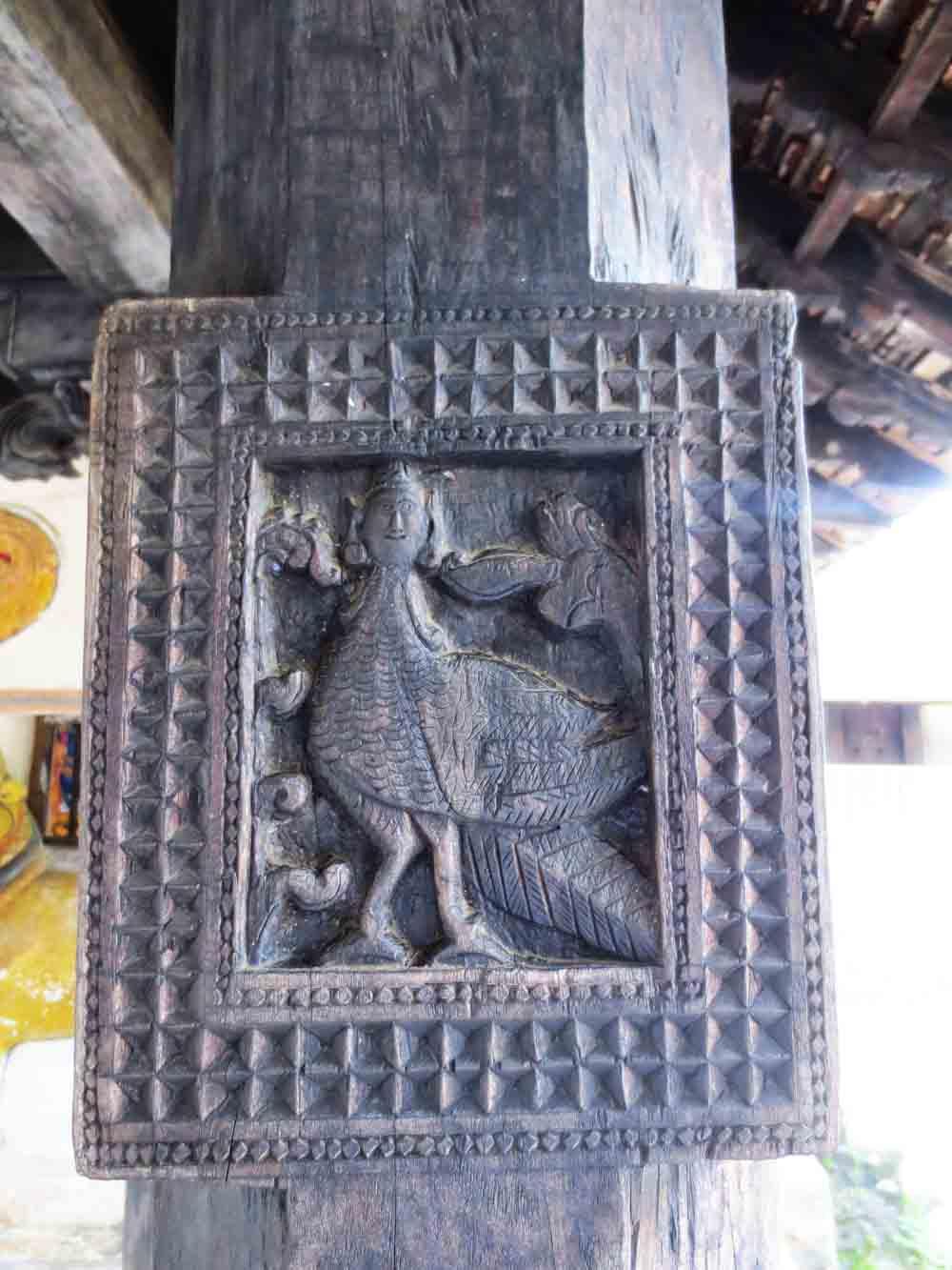 Embakke Devalaya wooden carvings3