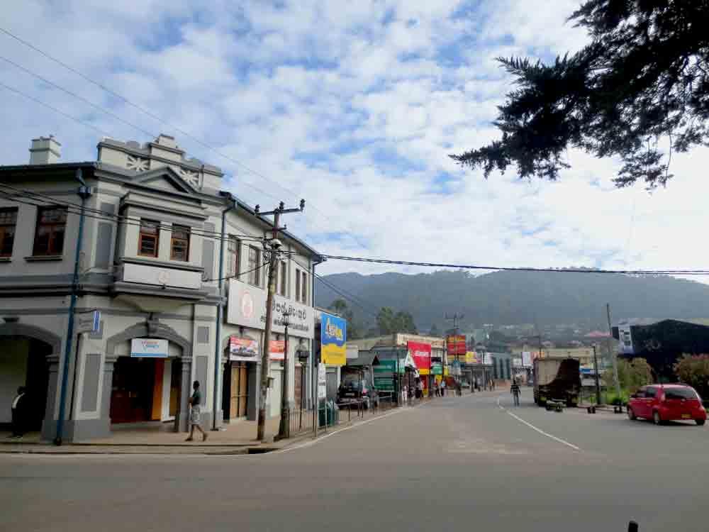 Nuwara Eliya Town Street View.