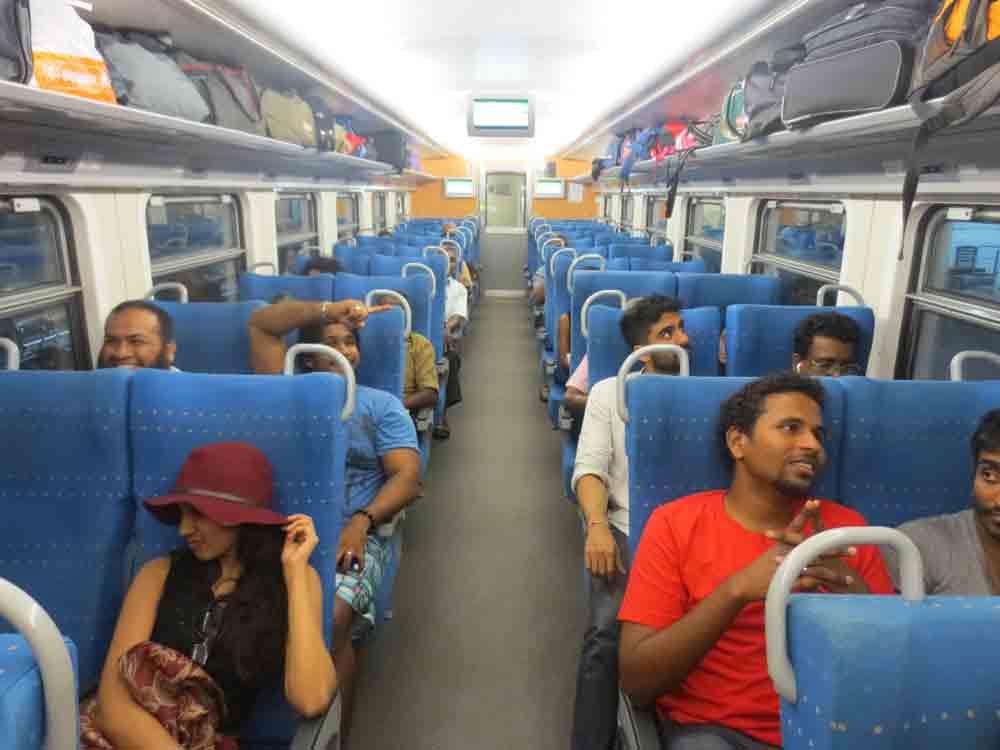 Yal Devi Express Train: Comfortable Seats