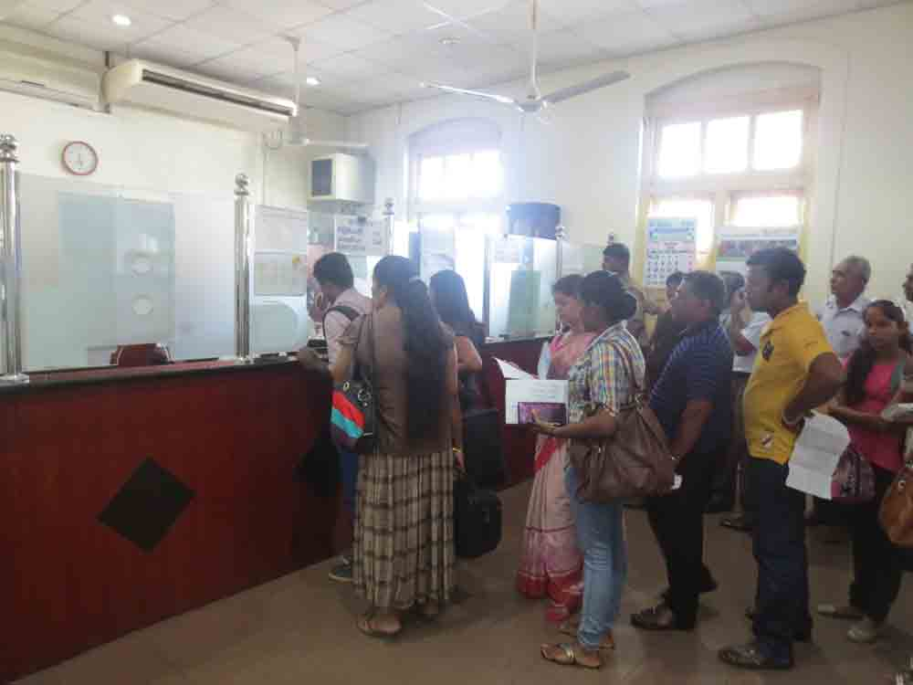 Inside the 89 counter Fort Railway Station