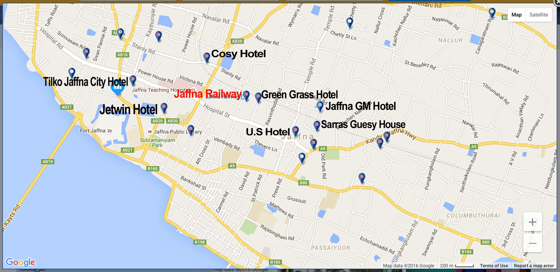 Map of Jaffna AM