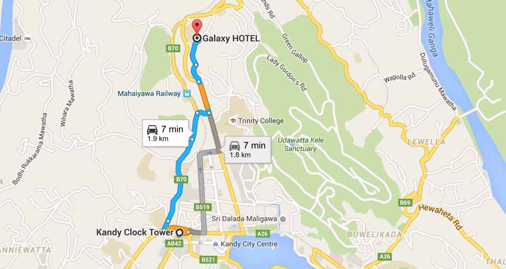 Galaxy Hotel Kandy Sri Lanka