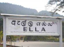 Ella Sri Lanka sign board at Ella Railway Station