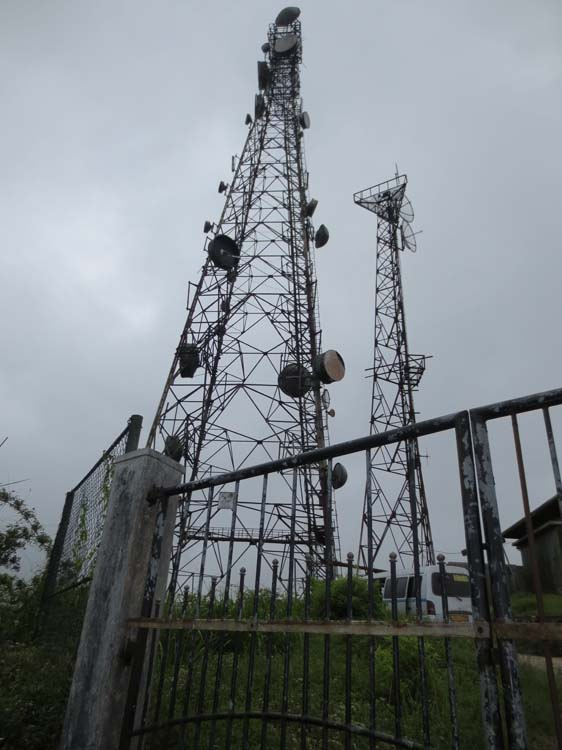 Closer view of Riverston Peak Transmission Tower