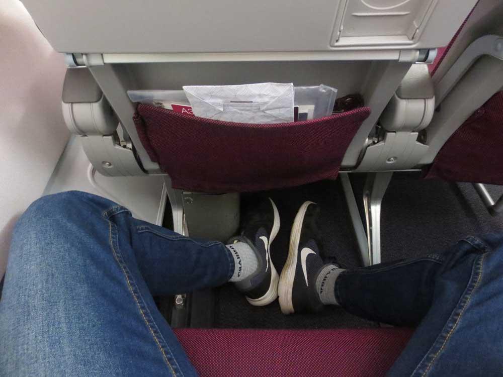 Leg Space of A340-600 Qatar Airways