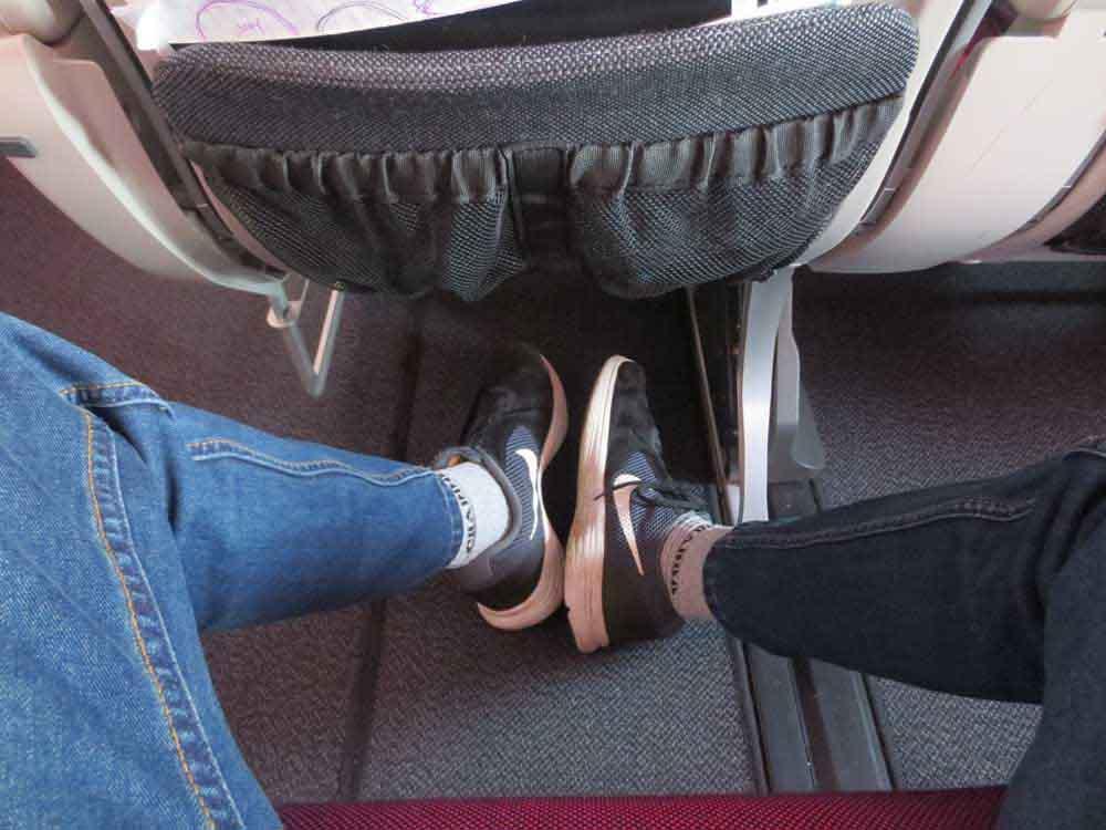 Leg Space of Qatar Airways A380-800