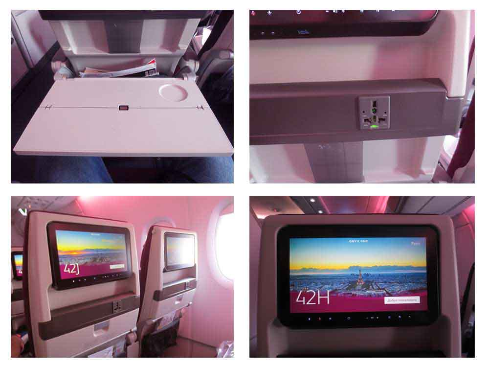 Qatar Airways A380-800 & A340-600 Seat Configuration and Entertainment System