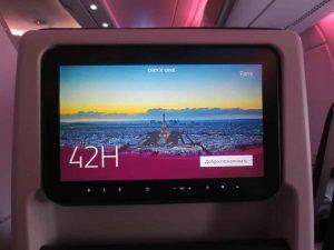 Touch Screen of Airbus A380-800 Qatar Airways