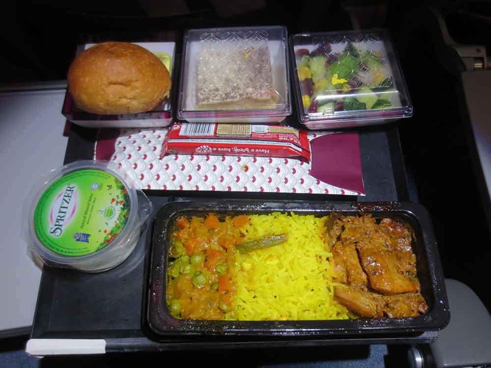 None Vegetable Hindu Meal -Dinner Colombo to Doha - Qatar Airways