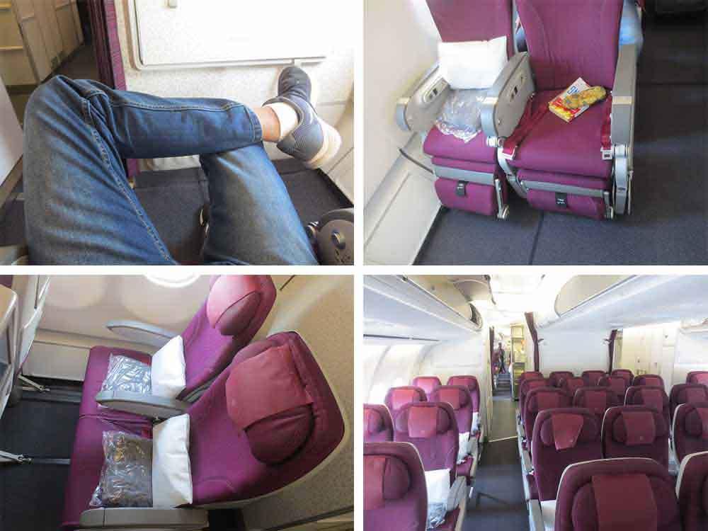 Leg Space of Qatar Airways A340-600