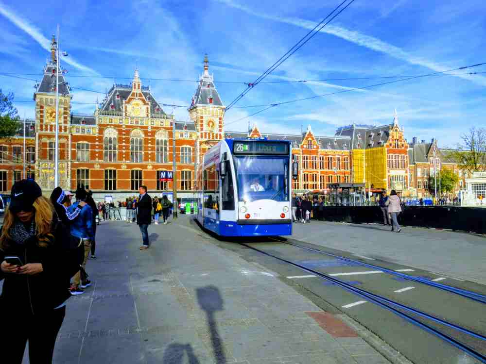 Amsterdam Centraal Station and Trams: You can effectively finish the Day Trip to Amsterdam if you use trams