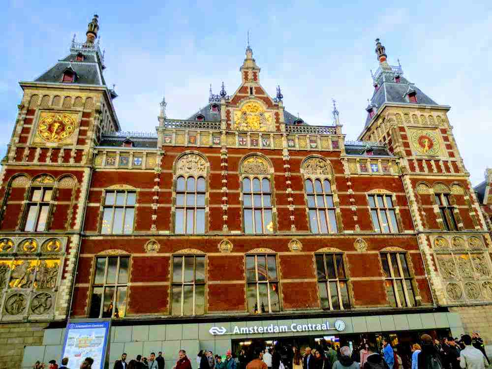The grand architecture of the Amsterdam Centraal Station