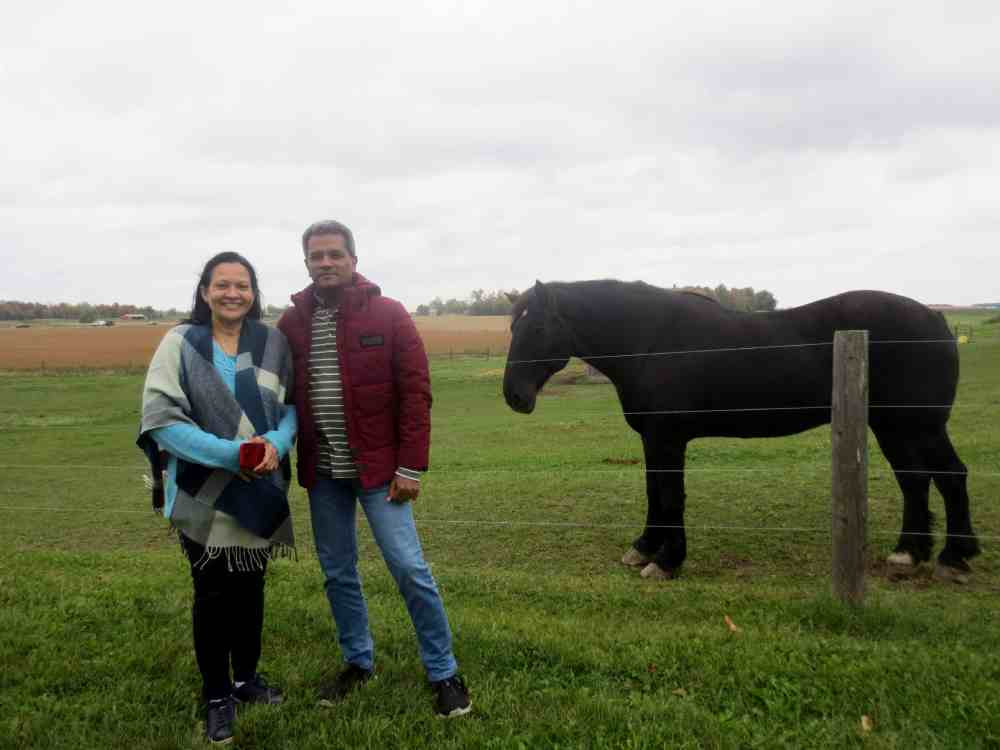 Country side of Brampton , Toronto , Canada. Myself and my wife