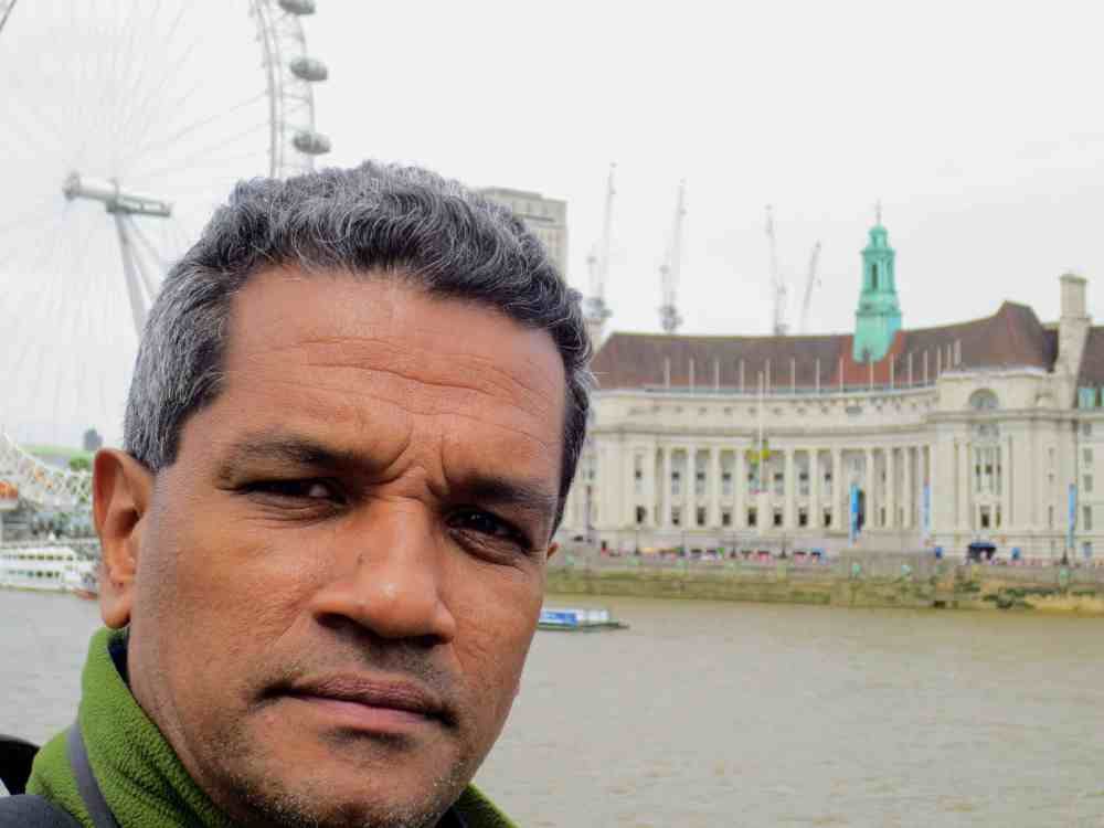 I am in front of London Eye. I was amazing experience