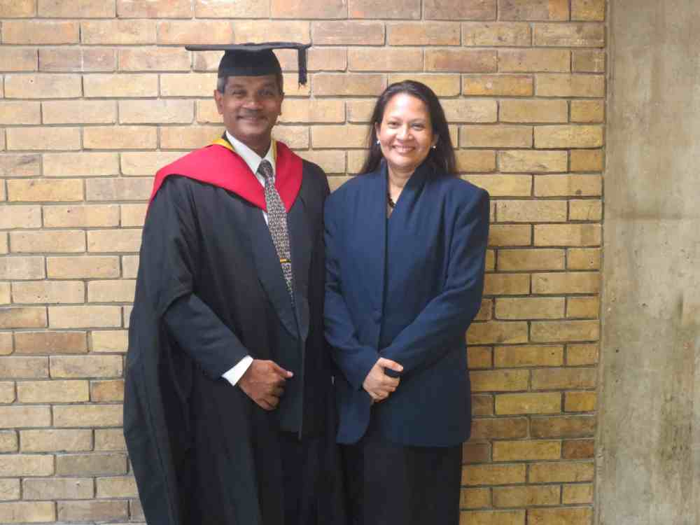 Leicester University Graduation Ceremony 2016. Myself and my wife